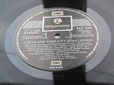 JOHN LENNON ORIGINAL 1986  UK LP  LIVE IN NEW YORK CITY  INDIAN PRESSING