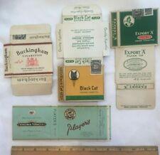 4 Vtg Cigarette Package Canada Tobacco Memorabilia Player's Navy Cut Black Cat