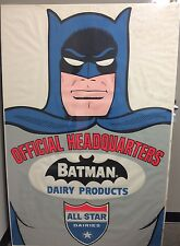 "VINTAGE 1966 ALL STAR DAIRIES PROMOTIONAL BATMAN STORE POSTER! 40"" X 60""! HUGE!"