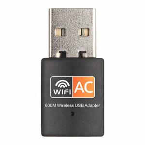 USB WLAN Adapter Stick AC 600Mbps Dual 2.4GHz / 5GHz WIFI Dongle Wireless PC Mac