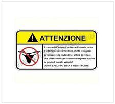 """Adesivo per Moto """" DIVIETO DI MUTANDINE """"  - LIFE4BIKE - warning"""