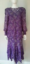 Vintage embellished 20s 80s Judith Ann Creations Flapper party cocktail dress M