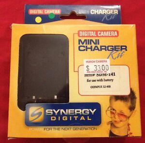 Digital Camera Mini Battery Charger Kit SDM-141 Olympus Li 40B Video DC 12V 600m