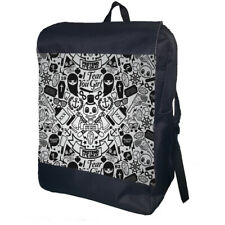 Gothic Skulls Backpack School Bag Travel Daypack Personalised Backpack
