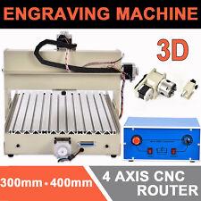 4 Ejes 3040 CNC Router Kit Engraver Máquina de grabado Madera 3D PCB Cutter 400W