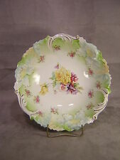 "RS Prussia Germany Saxe Altenburg 10 1/4"" Floral Bowl"