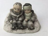 "Enesco ""Snow Where Else I'd Rather Be"" Porcelain Figurine Kim Anderson PAAP"