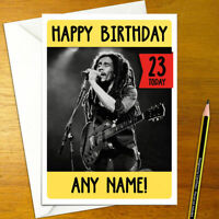BOB MARLEY Personalised Birthday Card - music personalized reggae