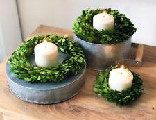 "Boxwood Candle Ring/ Mini Wreath 6"""