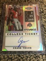 2020 Contenders Optic college ticket On Card auto Chase Young WASHINGTON OSU