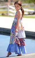 Matilda Jane Girls Size 4 6 8 Heart Song Maxi Dress New In Bag Blue Floral