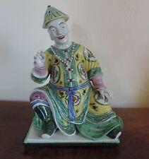 Antique French Paris Porcelain Figure of Chinese Mandarin 19th c. Incense Burner