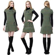 Plus Size Collared Short Sleeve Casual Dresses for Women