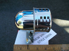NEW SMALL CHROME METAL VINTAGE STYLE SIREN # CAR / TRUCK !