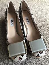 Clarks Narrative Ladies Court Shoes Size 4.5 Animal Print BNWOB
