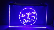 Cocktails & Dreams Beer Bar Pub Club 3D Signs Led Neon Light Sign