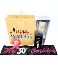 Happy 30th Birthday Gift Set Bundle For Her