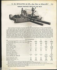 1921 ADVERT Knight Portable Circular Saw Mill Lumber Timber Yard Dog