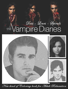 Vampire Diaries Dots Lines Spirals Coloring Book Relaxation Paperback Book New
