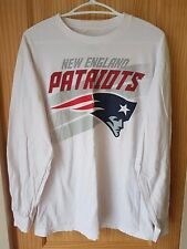 NEW ENGLAND PATRIOTS NFL MAJESTIC WHITE MULTI GRAPHIC LONG SLEEVE T-SHIRT SIZE L