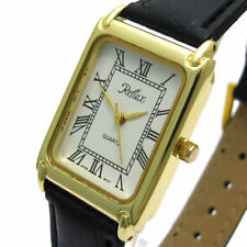 Faux Leather Band Gloss Men's Adult Wristwatches