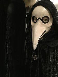 Macabre Plague Doctor Mask Pagan Masquerade Carnival Halloween Antique style