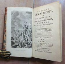 LE COMTE DE VALMONT Ou Les Égaremens De La Raison 1778 2e partie Tome 4 ILLUSTRE