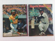(2) 1974 & 1977 Sports Illustrated Vintage Magazines Baseball Reggie Jackson