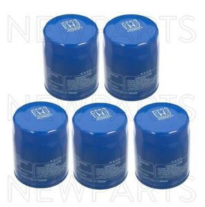 Set of 5 Engine Oil Filters GENUINE for Acura Honda Pack 5 Motor Oil Filters 5PC