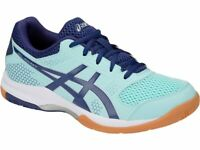 ASICS GEL-ROCKET 8 Women's Badminton Shoes Blue Indoor Shoes NWT 111913006-408