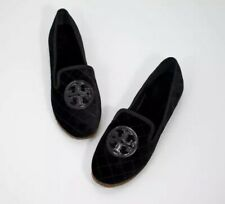 Tory Burch Black Black 009 Quilted Billy Slipper 7 Smart Velvet Flat Shoes Flats