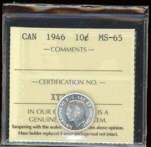 1946 Canada Ten Cents - ICCS MS-65 - XTZ380