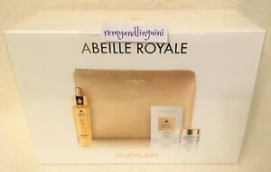 GUERLAIN ABEILLE ROYALE YOUTH WATERY OIL DOUBLE R SERUM DAY CREAM SET + BAG $200