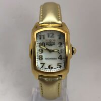 Invicta 4678 Womens Gold Tone Mint Condition Sapphire Coated Leather Swiss Watch