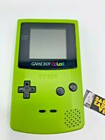 Nintendo Game Boy Color Handheld Game System Neon Green game boy Tested!