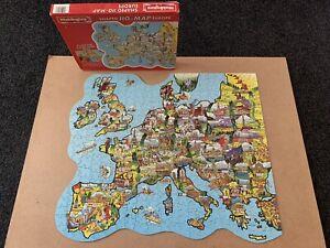 Vintage Waddingtons Europe Shaped Jig Map Jigsaw Puzzle COMPLETE 1983 Vari-piece