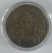 Alphonse Mucha Antique 1 0z .999 silver coin Rose #3 in Art series collection