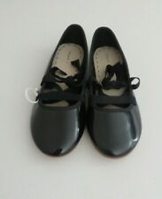New Zara Girls Black Leather Shoes, Size 36 M