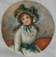 MINIATURE PAINTED AT HAND SIGN DAVID YOUNG GIRL IN THE END HAT 19 # P10