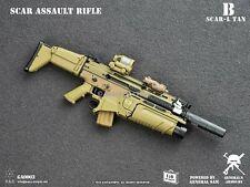 1/6 Scale Toy Tan SCAR-L MK16 Assault Rifle B MINT IN BOX
