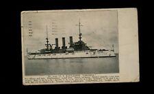 Postcard 1919 US Battleship Virginia postmarked Oakland CA sent to Richmond VA