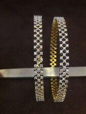 Classy 5.75 Cts Round Brilliant Cut Diamonds Bangles In Fine Hallmark 14K Gold
