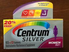 Centrum Silver Women 50+ Multivitamin Multimineral Supplement 65 +13 pack Exp 18