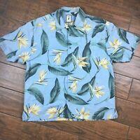 Jamaica Jaxx Authentic Island Style MENS XL Birds of Paradise Hawaiian Shirt