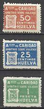 4031-SELLOS BENEFICOS CARIDAD HUELVA ARBITRIO VIAJEROS GUERRA CIVIL,NUEVOS.