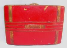"""Vintage Red and Gold Art Deco Compact-3 1/4"""" x 2 1/4"""""""
