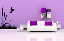 Wall Vinyl Sticker Room Decals Mural Design Art Butterfly Reed Nature bo1278