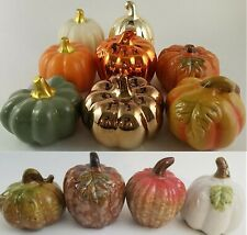 Mini Ceramic Pumpkin Decorations Pumpkins, Select Type and Color