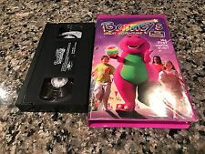Barney's Rhyme Time Rhythm VHS! Vintage Mint Purple Clamshell Print!