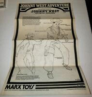 Vtg Marx Best of the Johnny West Adventure BOTW Quick Draw Instructions 1975 HTF